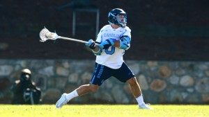 Steve Pontrello had two goals and a career-high three assists against Loyola. Two of those assists were to Chris Cloutier. (Jeffrey A. Camarati/ UNC Athletics)