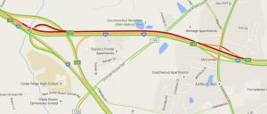 I-85 backup via Google