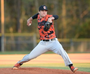 Bryse Wilson of Orange High School was chosen in the fourth round of the MLB Draft by the Atlanta Braves, and now must decide whether to go pro or attend UNC for at least the next three years. (Photo via Twitter/@BryseWilson)