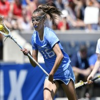 Rising senior Carly Reed was one of 12 current and former Tar Heel women's lacrosse players selected to tryout for the U.S. National Team in August. (Jeffrey A. Camarati/ UNC Athletics)
