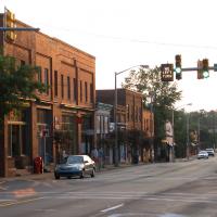 Downtown Carrboro. Photo via Chapelboro.