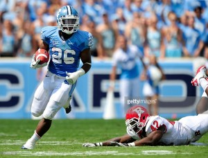 Each of Gio Bernard's two seasons at UNC ranked among the top eight on the school's single-season rushing list. (Getty Images)