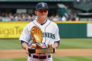 Kyle Seager has gone on to great success in the major leagues since leaving UNC after his junior year in 2009. (Photo by Otto Greule Jr/Getty Images)