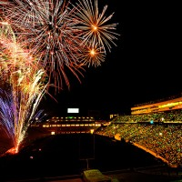 Kenan Stadium Fireworks. Photo by SP Murray
