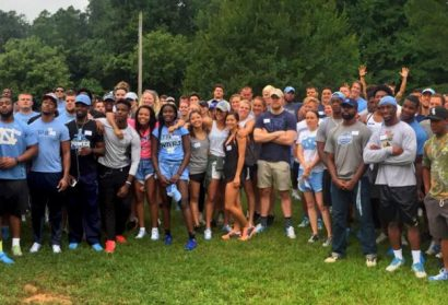 UNC Student-Athletes Team Up with Habitat for Humanity for Efland Build