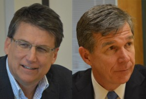 Pat McCrory and Roy Cooper- race for governor