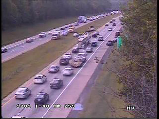 I-40 WB Accident Near I-85 Merge Causes Friday Afternoon