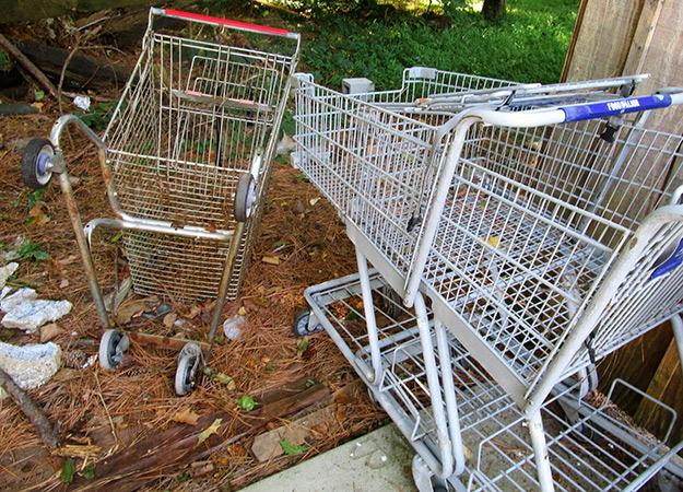 Abandoned Shopping Carts: Signs of Urban Decay - Chapelboro.com