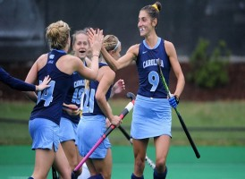 The UNC field hockey team looks to return to the Final Four in 2016--but this time the Tar Heels want to come home with a national championship trophy. They'll start the season ranked No. 1, with Syracus--the defending champs--at No. 2. (Jeffrey A. Camarati/ UNC Athletics)