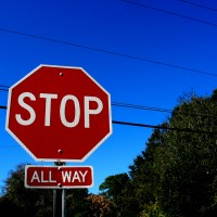 All-Way Stop Sign. Photo via flickr.