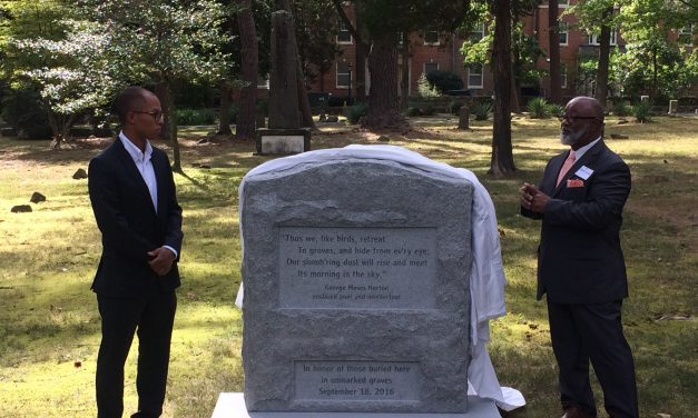Chapel Hill Unveils New Cemetery Marker