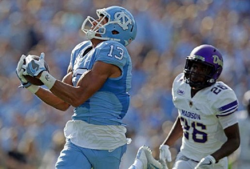 North Carolina wins home opener, beats James Madison 56-27