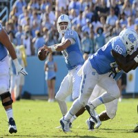 Mitch Trubisky was named the Walter Camp National Offensive Player of the Week for his amazing effort in UNC's comeback win over Pitt on Saturday. (Jeffrey A. Camarati/ UNC Athletics)