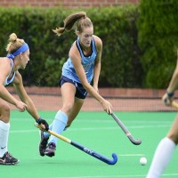 UNC field hockey star Lauren Moyer helped lead the team to wins over No. 1 Syracuse and No. 2 Duke this past weekend. She was named ACC Offensive Player of the Week for her efforts. (Jeffrey A. Camarati/ UNC Athletics)
