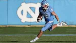 Proehl's route running and agility have helped get him to this point in his career. He credits his dad for always having feedback and critiques ready for him. (Grant Halverson/ UNC Athletics)