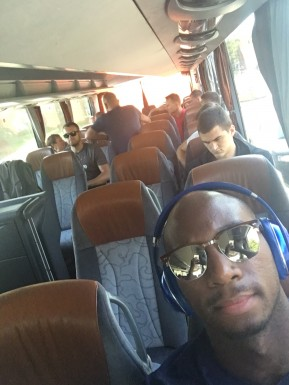 Team Bus Heading to a Pre-season game
