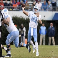 Mitch Trubisky and the Tar Heels moved up one spot in the AP Top 25 following their win over Virginia on Saturday. (Jeffrey A. Camarati/ UNC Athletics)