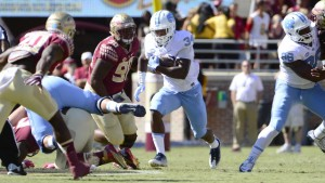 Weiler's field goal allowed UNC to escape with a win despite losing tailback Elijah Hood to concussion-like symptoms midway through the game. (Jeffrey A. Camarati/ UNC Athletics)