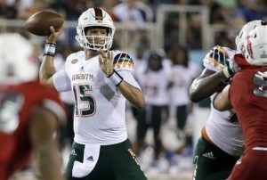 Miami quarterback Brad Kaaya has risen up NFL Draft boards thanks to his size and arm talent. (Smith Cameron Photography)