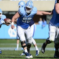 UNC redshirt freshman Tommy Hatton was named ACC Offensive Lineman of the Week for his efforts filling in for the injured Caleb Peterson at left guard. (Jeffrey A. Camarati/ UNC Athletics)