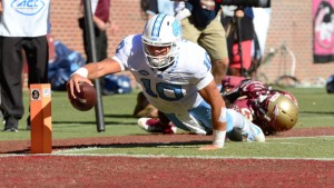 Mitch Trubisky continued his flawless stretch at quarterback for UNC--posting his third straight 400-yard game without throwing an interception. (Jeffrey A. Camarati/ UNC Athletics)