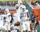 A motivated defensive effort against Miami helped lift the UNC football team back into the AP Top 25. (Jeffrey A. Camarati/ UNC Athletics)