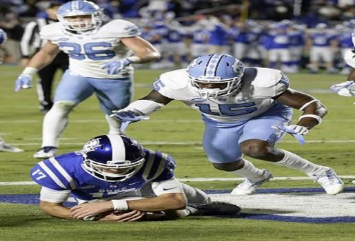 score of the duke football game football collage