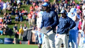 Larry Fedora and the Tar Heels did more than their fair share of football watching during their week off. (Jeffrey A. Camarati/ UNC Athletics)