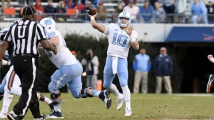 Mitch Trubisky has skyrocketed up NFL Draft boards in recent weeks. If this is his last season in Chapel Hill, he wants to go out on a high note by leading the Tar Heels to another Coastal Division title. (Jeffrey A. Camarati/ UNC Athletics)