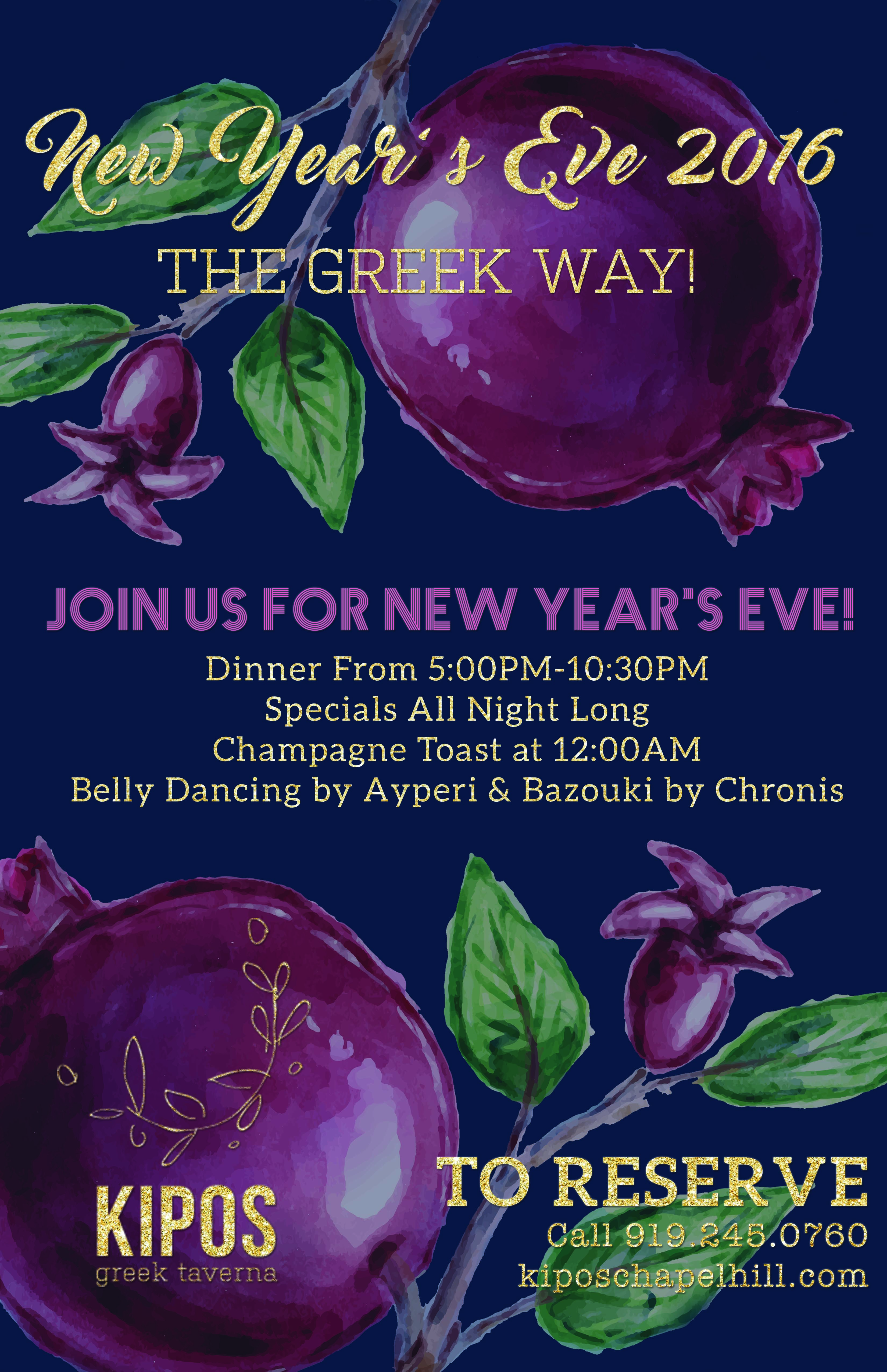 NEW YEAR'S EVE THE GREEK WAY! - Chapelboro.com
