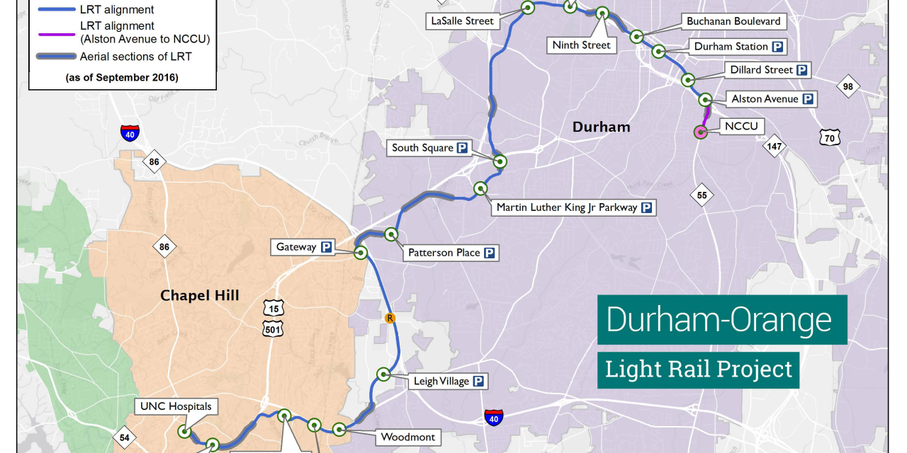 Public Opinion Remains Split on Durham-Orange Light Rail Project