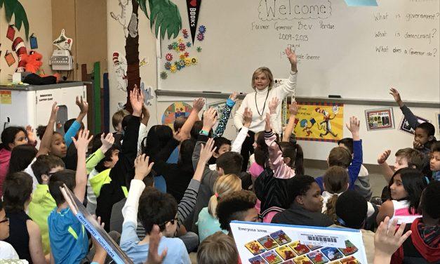 Former Gov Bev Perdue Visits Northside Elementary