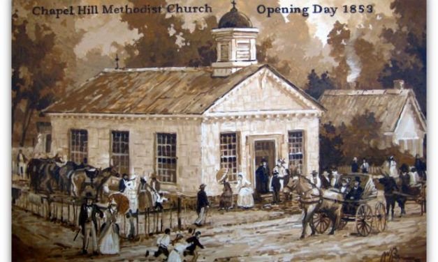 The Story Behind a Painting: One Snapshot of Chapel Hill and the Old Methodist Church on Opening Day, 1853