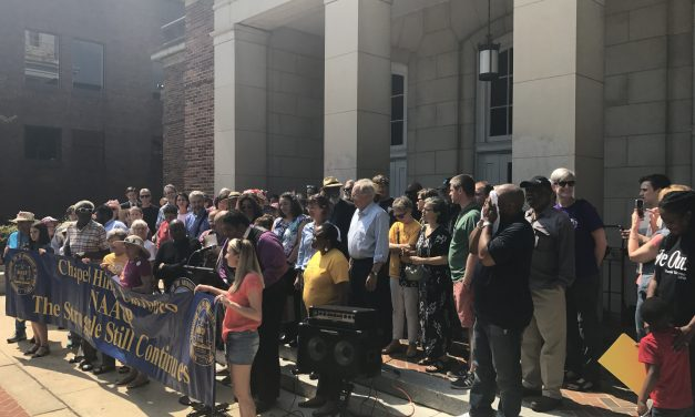 State NAACP Rallies for UNC Center for Civil Rights Ahead of Public Hearing