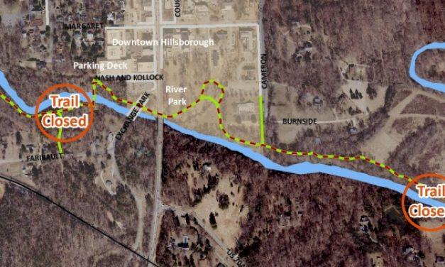 Tree Maintenance Closes Portions of Riverwalk in Hillsborough