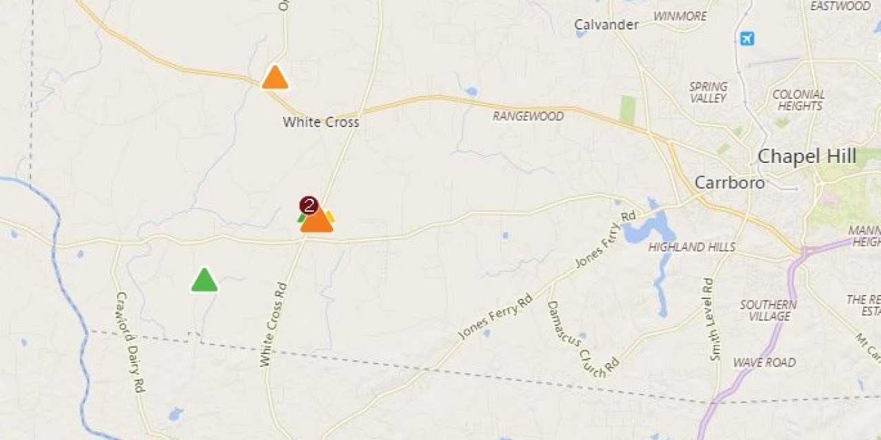 Nearly 2,000 Duke Energy Customers Without Power in Western Orange on